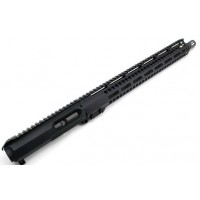 "AR 10MM 16"" SLICK SIDE LRBHO PREMIUM COMPLETE M-LOK UPPER ASSEMBLY"