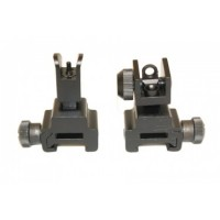 AR-15 FOLDING IRON SIGHTS WITH QD KNOBS
