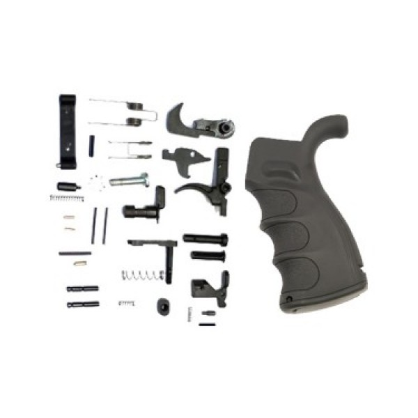AR-15 COMPLETE LOWER PARTS KIT WITH ERGONOMIC POLYMER PISTOL GRIP