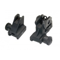 AR-15 FIXED IRON SIGHT SET WITH QD KNOBS