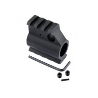 AR 15 .750 Gas Block  Top & Bottom Picatinny Weaver Rail
