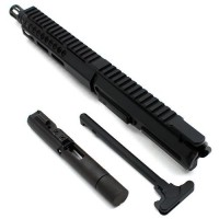 "AR-40 8"" Slick Side LRBHO Pistol Complete Upper Assembly with BCG & CH - .40 S&W"