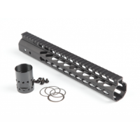 "AR-10 .308 12"" ULTRA LIGHTWEIGHT THIN KEY MOD FREE FLOATING HANDGUARD WITH MONOLITHIC TOP RAIL"