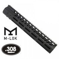 "AR-10 .308 12"" ULTRA LIGHTWEIGHT THIN M-LOK FREE FLOATING HANDGUARD WITH MONOLITHIC TOP RAIL"