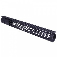 "AR-15 AIR LITE SERIES ""HONEYCOMB"" 15"" KEYMOD FREE FLOATING HANDGUARD WITH MONOLITHIC TOP RAIL"
