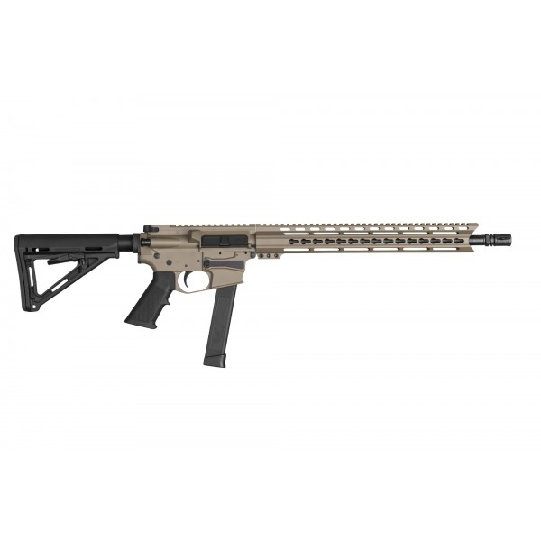"MA-9 9MM 16"" BATTLE M3 LRBHO GLOCK STYLE RIFLE W/MAGPUL STOCK, FDE"