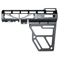 AR Skeletonized Pistol Arm Brace, Black Anodized Aluminum