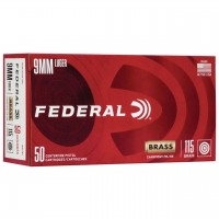 9mm Ammo by Federal - 115gr FMJ - 50 Rounds