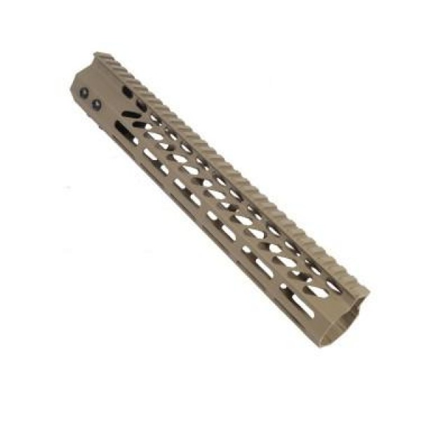 "AR-15 12"" ULTRA LIGHTWEIGHT THIN M-LOK SYSTEM FREE FLOATING HANDGUARD WITH MONOLITHIC TOP RAIL"