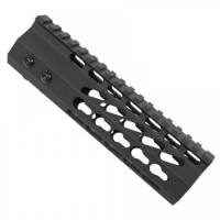 "AR-15 7"" ULTRA SLIMLINE OCTAGONAL 5 SIDED KEY MOD FREE FLOATING HANDGUARD WITH MONOLITHIC TOP RAIL"