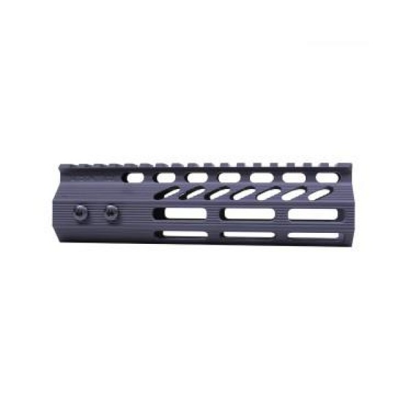 "AR-15 7"" ULTRA SLIMLINE OCTAGONAL 5 SIDED M-LOK FREE FLOATING HANDGUARD WITH MONOLITHIC TOP RAIL"