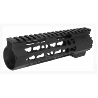 "AR-15 7"" LIGHTWEIGHT CLAMP-ON KEYMOD FREE FLOAT HANDGUARD W/DETACH RAILS"