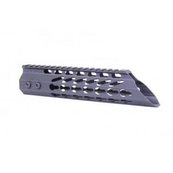 "AR-15 9"" ULTRA SLIMLINE OCTAGONAL 5 SIDED KEY MOD FREE FLOATING HANDGUARD WITH SLANT NOSE"