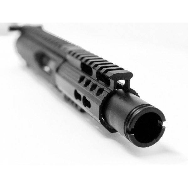 "AR-9 9MM 7.5"" MINI PREMIUM CONE PISTOL UPPER HALF WITH RAMPED BCG AND CHARGING HANDLE"