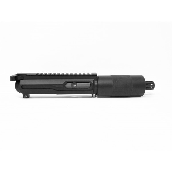 "AR-45 .45 ACP 4"" LRBHO ""SLICK SIDE"" TUBE UPPER HALF WITH BCG AND CHARGING HANDLE"