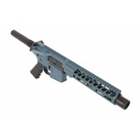 "AR-15 5.56/.223 7.5"" Pistol Keymod Upper Assembly - Titanium Blue"