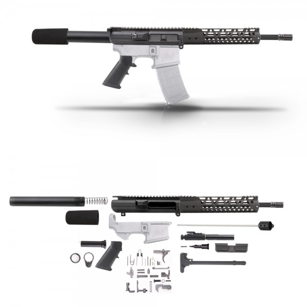 "AR-10 .308 12.5"" PISTOL BUILD KIT W/ 10"" M-LOK HANDGUARD"