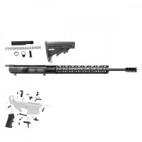 "AR-10 .308 20"" SHARK RIFLE BUILD KIT W/15"" FREE FLOAT HANDGUARD - DPMS"