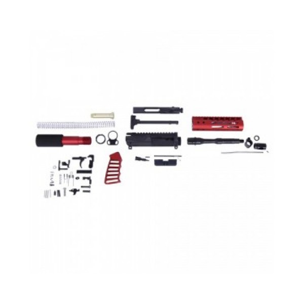 "AR-15 5.56/.223 7.5"" COMPLETE ULTRALIGHT SERIES PISTOL KIT -  ANODIZED RED"