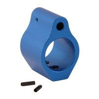 .750 Low Profile Aluminum Gas Block with Roll Pins & Wrench - Blue