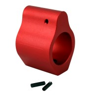 .750 Low Profile Aluminum Gas Block with Roll Pins & Wrench - Red