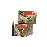 Wolf 5.45x39 Ammunition Military Classic 60 Grain FMJ 30 Rounds