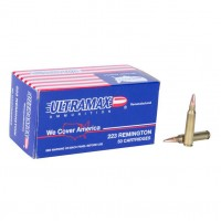 Ultramax Remanufactured Ammo 223 Remington 62 Grain FMJ Box of 50