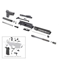 "AR-15 300 AAC Blackout 10.5"" premium tactical pistol kit w/ 10"" Mlok & Shockwave"
