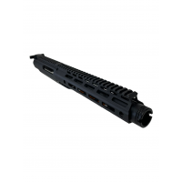 """AR-40 8"""" SLICK SIDE PISTOL UPPER  WITH FLASH CAN AND CH / NO BCG  - .40 S&W / NON-LRBHO"""