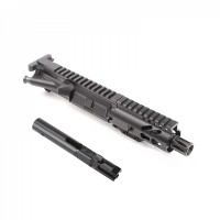 "AR-9 9MM 4.5"" PISTOL LENGTH COMPLETE UPPER W/ 4"" SUPER SLIM KEYMOD"