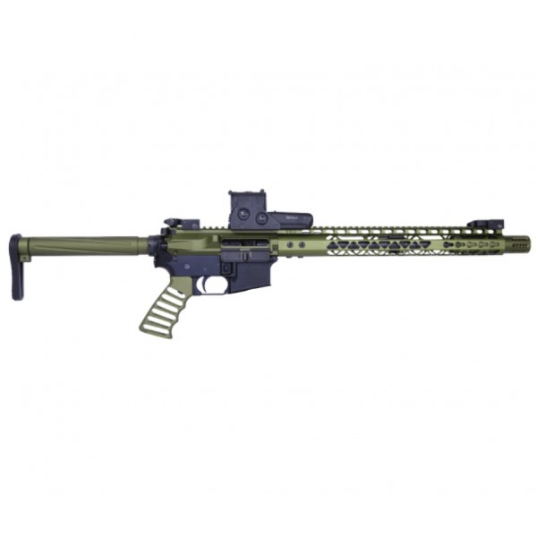 "AR-47 7.62X39 16"" AIRLIGHT SERIES RIFLE KIT IN GREEN"