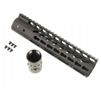 "AR-15 10"" ULTRA LIGHTWEIGHT THIN KEY MOD FREE FLOATING HANDGUARD"