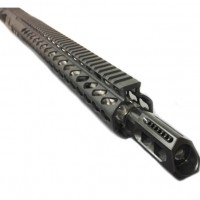 "AR-10 .308 16"" diamond fluted bull tactical upper assembly w/ slanted brake"
