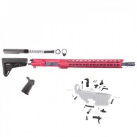 "AR-15 5.56/.223 16"" Magpul Red ""Pineapple"" Rifle Kit w/15"" Slanted Rail"