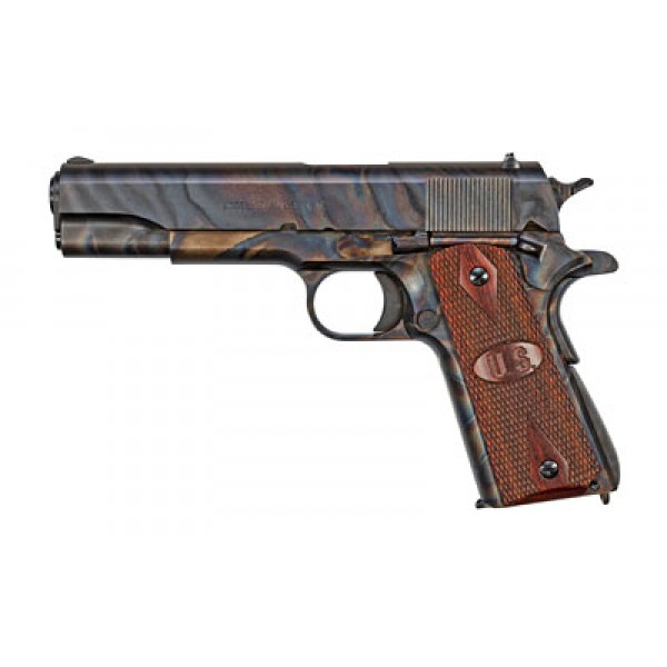 Auto-Ordnance 1911 GI Pistol 1911GCH, 45 ACP, 5 in, Wood Grip, Case Hardened Finish, 7 Rd