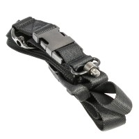 1 & 2 Point Bungee Sling w/ H&K Hook QD Buckle & Metal D-Ring - 62""