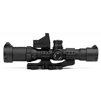 1-4x28 Assault Optic Combo, Black, Micro Blue Dot, Etched Glass Dot Reticle