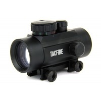 Tacfire 1X30 DUAL ILL. RED/GREEN DOT RETICLE WEAVER BASE W/LENS COVERS