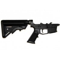 AR-45 Complete Billet Lower Receiver w/Cobra Stock — Glock Style Mags