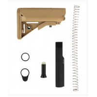 .308 6-POS PREMIUM STOCK & BUFFER TUBE ASSEMBLY - TAN