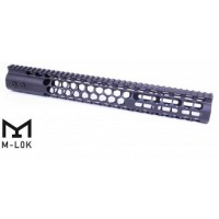 "AR-15 AIR LITE SERIES ""HONEYCOMB"" 15"" M-LOK FREE FLOATING HANDGUARD WITH MONOLITHIC TOP RAIL"