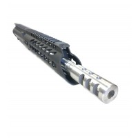 "AR-15 5.56/.223 10.5"" Wylde stainless steel keymod upper assembly"