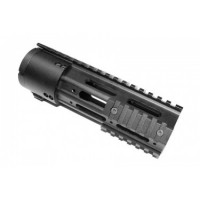 "AR-15 7"" Thin Profile Free Floating Handguard With Removable Rails & Monolithic Top Rail"