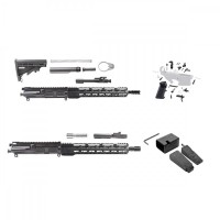 "AR-15 Double Play: AR-15 5.56 AND AR 9MM 16"" RIFLE BUILDS KIT W/TORKMAG ADAPTER"