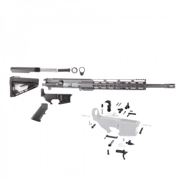 "AR-15 5.56 NATO 16"" Rifle Build Kit with Roger Stock & 12"" Super Slim Light Keymod Rail"