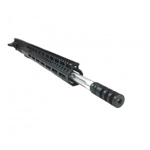 AR-15 .224 Valkyrie 18″ stainless steel straight fluted upper assembly