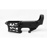 AR-15 80% SKELETON STYLE LOWER RECEIVER, ANODIZED W/SAFE AND FIRE