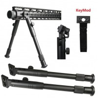 "9""-11"" Heavy Duty Aluminum Bipod w/ QD swivel - Mlok or Keymod option"