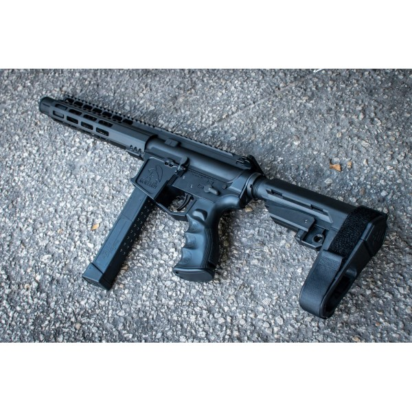 "AR-9 9MM 10"" PREMIUM UPPER HALF / RAMPED BCG AND CHARGING HANDLE / SLIM RAIL"
