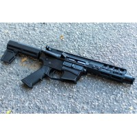 "AR-40 4"" SLICK SIDE COMPLETE PISTOL / ADJ SHOCKWAVE - .40 S&W, LRBHO"